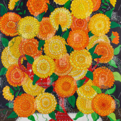 Cup with Orange and Yellow Flowers by Andrés Pérez Jurado